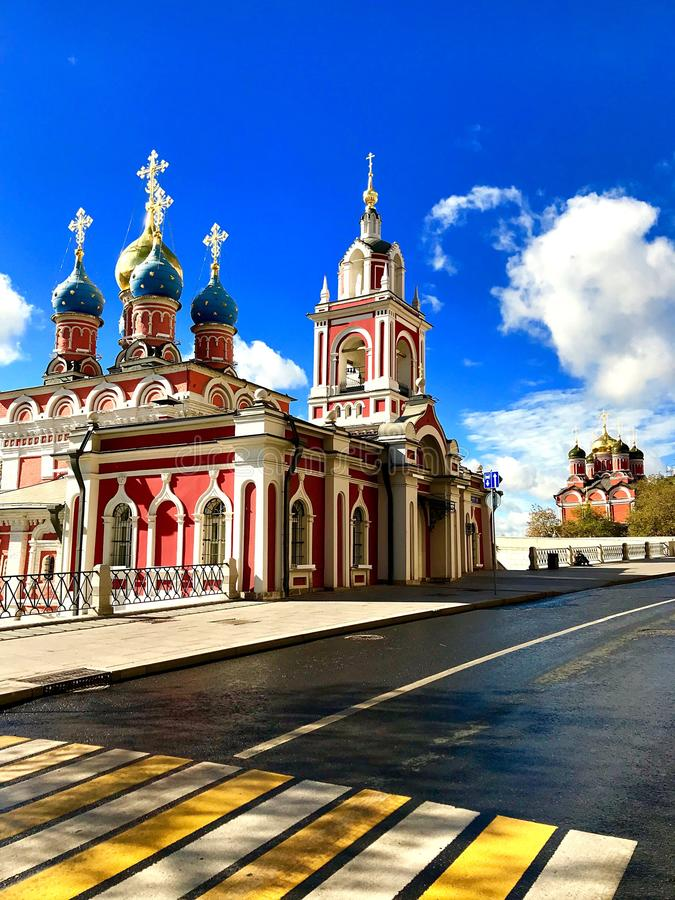 Ljusa färger i staden royaltyfri bild