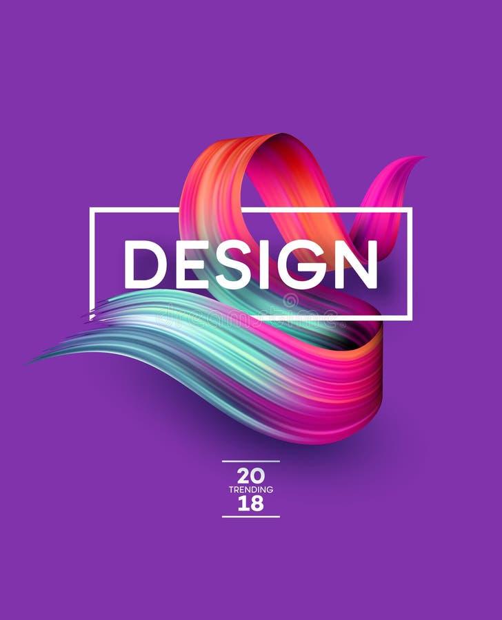 Ljusa färgmålarfärgfläckar för modern affisch Tranding design också vektor för coreldrawillustration royaltyfri illustrationer