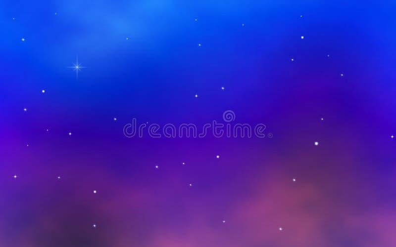 ljusa färgrika stjärnor för nattsky arkivfoto
