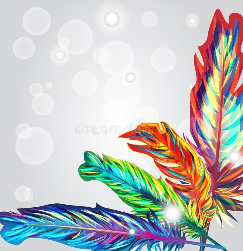 ljusa fjädrar royaltyfri illustrationer