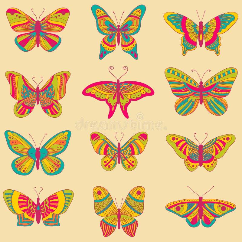 ljusa fjärilar arkivbilder