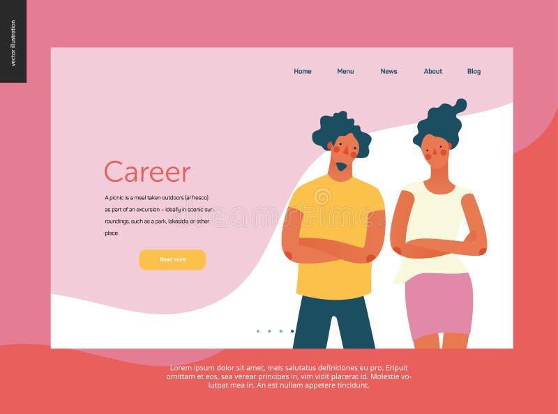 Ljusa folkstående - websitemall royaltyfri illustrationer