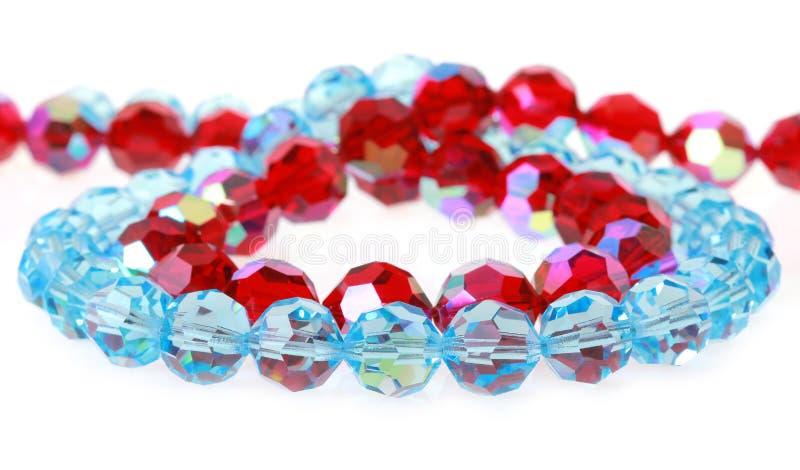 Ljusa glass pärlor fotografering för bildbyråer
