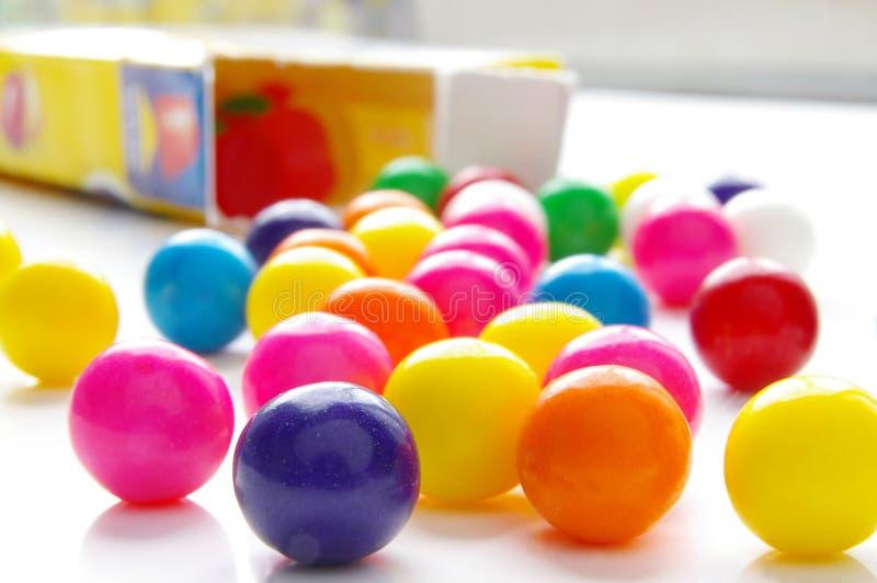 Ljusa godisgumballs royaltyfri foto