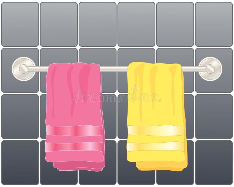 ljusa handdukar vektor illustrationer