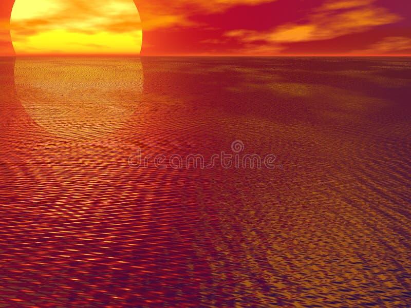 Download Ljusa hav stock illustrationer. Illustration av lampa, väderkorn - 290883