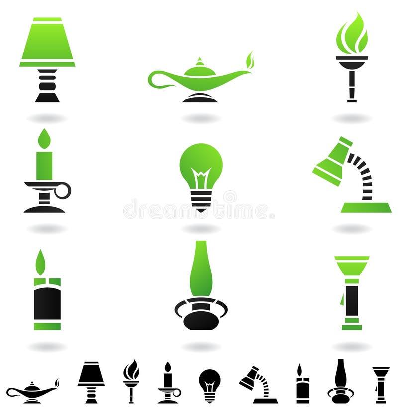 ljusa källor royaltyfri illustrationer