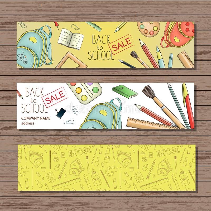 Ljusa kulöra brevpapperbokmärker royaltyfri illustrationer