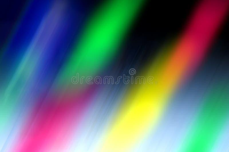 Ljusa kul?ra blured penseldrag som m?ngf?rgade exponeringar f?r en abstrakt bakgrund royaltyfri foto