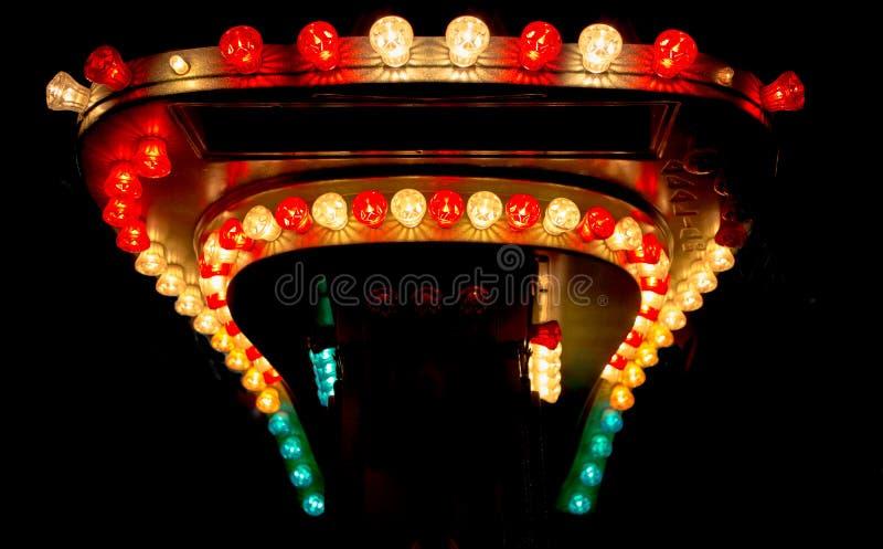 Ljusa kulor från funfair royaltyfria bilder