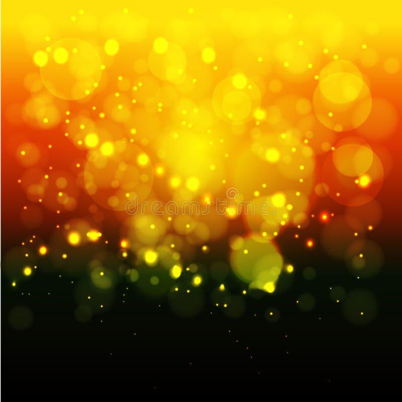 ljusa lampor för bakgrund Jul bakgrund suddighetdde bokeh Begreppet av ljus royaltyfri illustrationer
