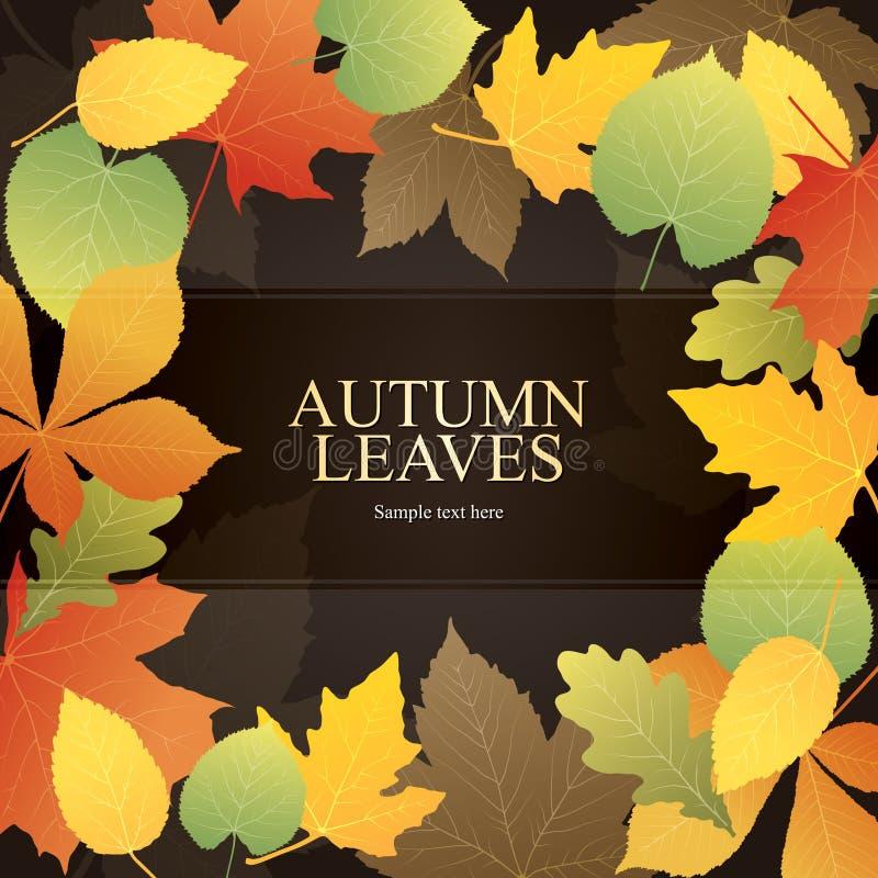 ljusa leaves för höstbakgrund stock illustrationer