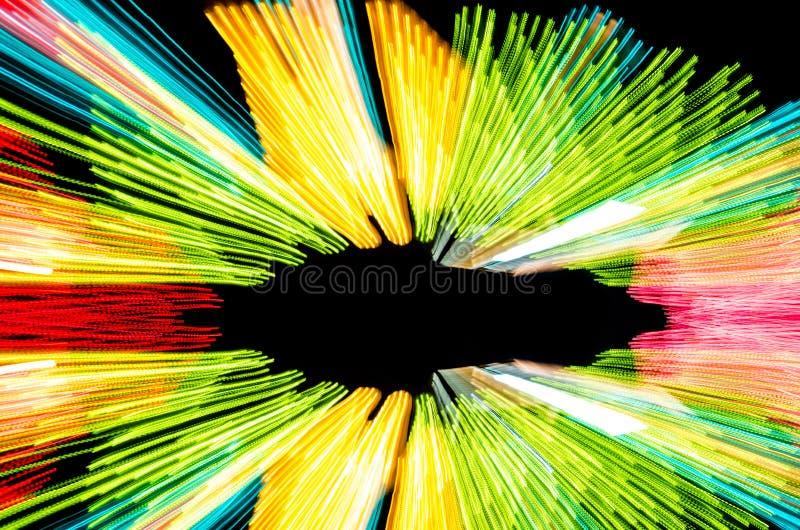 Ljusa linjer för abstrakt hastighetsrörelse fotografering för bildbyråer