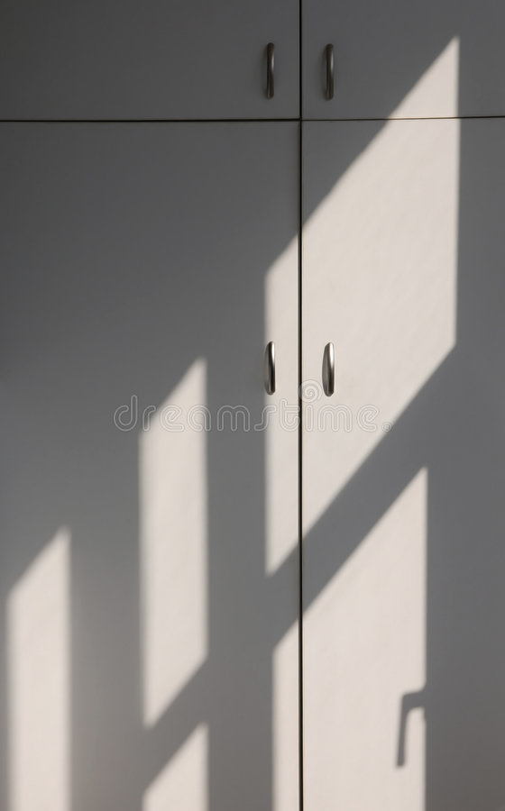 ljusa linjer skugga arkivbild