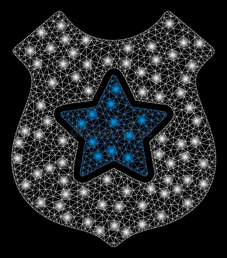 Ljusa Mesh Network Bulletproof Vest med ljusa fläckar royaltyfri illustrationer