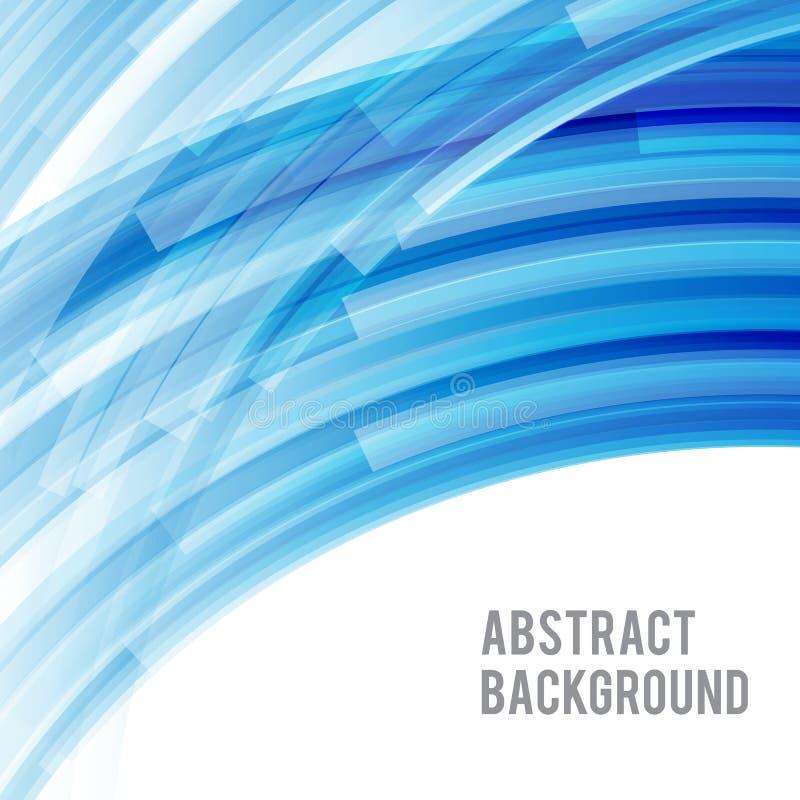 Ljusa och ljusa kurvblått 002 för abstrakt bakgrund vektor illustrationer