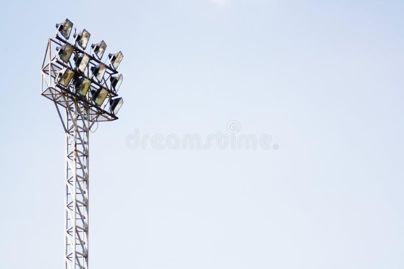Ljusa poler för stadion arkivbilder