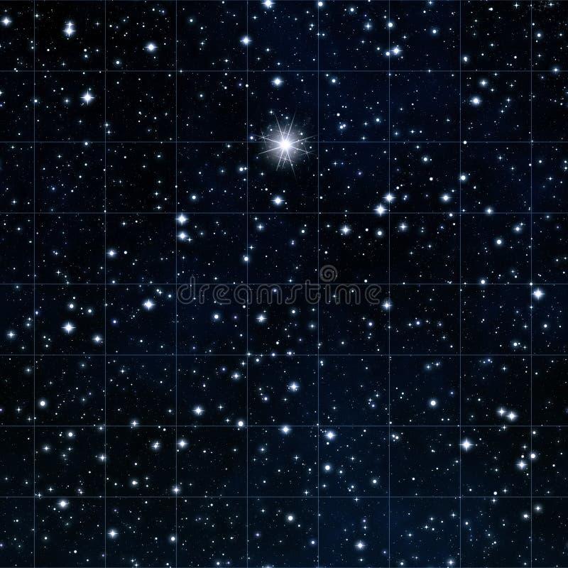 ljusa räckviddstjärnastjärnor stock illustrationer
