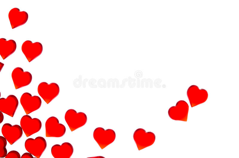 Ljusa röda hjärtor på en randig bakgrund För att att använda dag för valentin` s bröllop, internationell dag för kvinna` s royaltyfri illustrationer