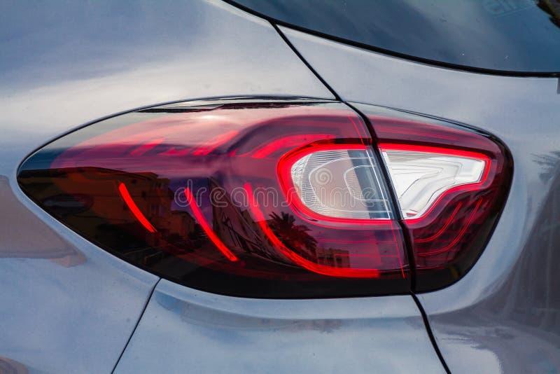 Ljusa Renault Megane tillbaka arkivbild