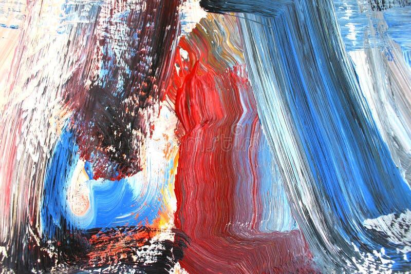 Ljusa rika färger på kanfas abstrakt konstbakgrund Färgtextur Fragment av konstverk abstrakt kanfasmålning stock illustrationer