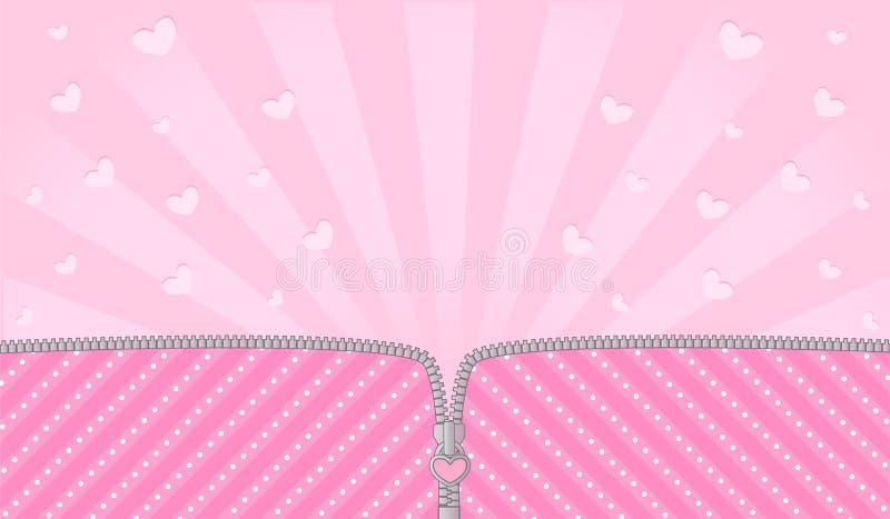 Ljusa rosa färger som göras randig på blek bakgrund för ett themed parti i dockaöverraskning för stil LOL stock illustrationer