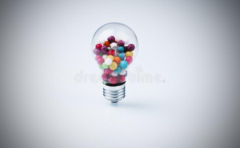 Ljusa sötsaker fotografering för bildbyråer