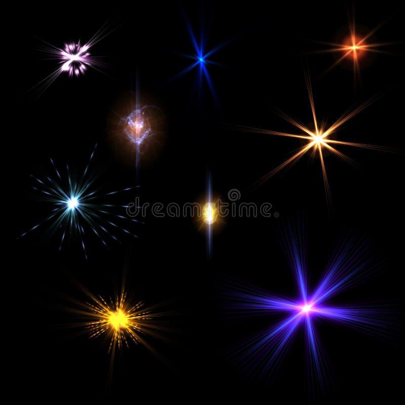 Ljusa signalljuseffekter royaltyfria foton