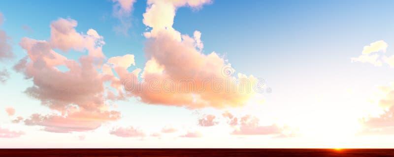 Ljusa sky och moln royaltyfri illustrationer