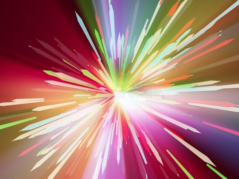 Download Ljusa Spektrumblyertspennor Stock Illustrationer - Illustration av fantasi, färg: 106838774