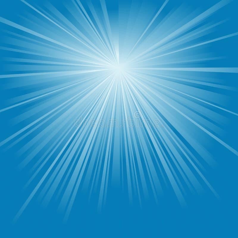 ljusa strålar royaltyfri illustrationer