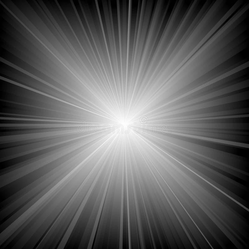 ljusa strålar stock illustrationer