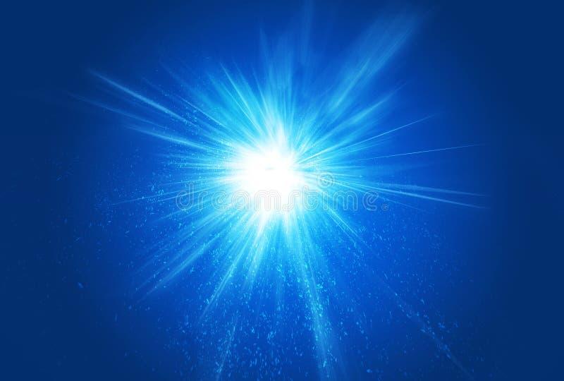 ljusa strålar för bristningsexplosion stock illustrationer