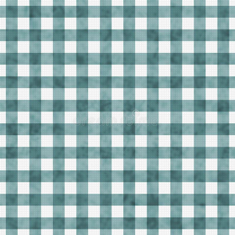 Ljusa Teal Gingham Pattern Repeat Background royaltyfria foton