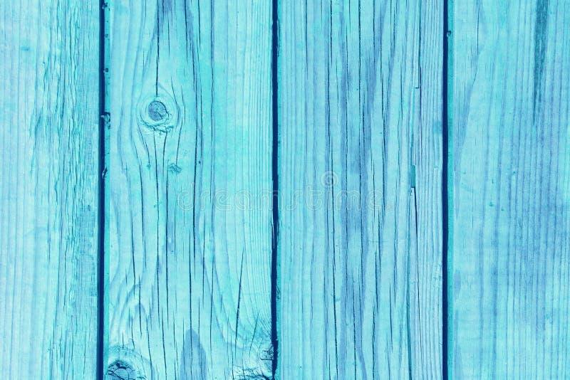 Ljusa träbräden för blå tappning royaltyfria foton
