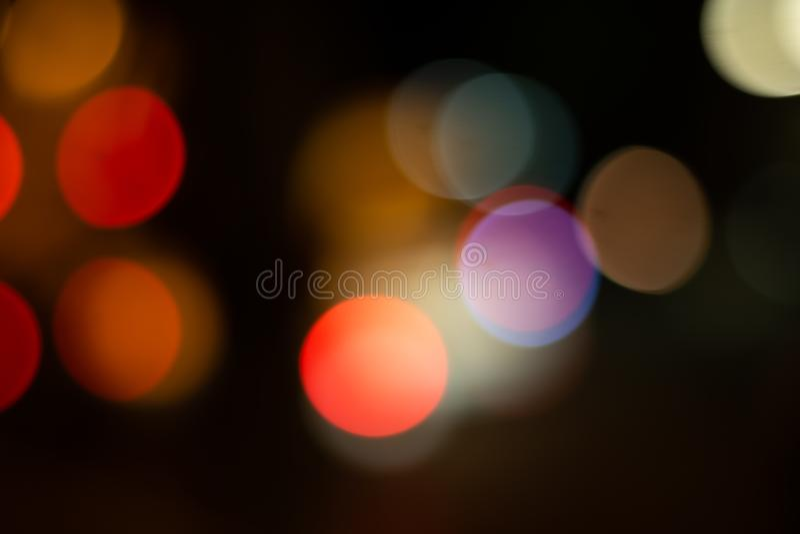 ljusbokehbakgrund i staden royaltyfria foton