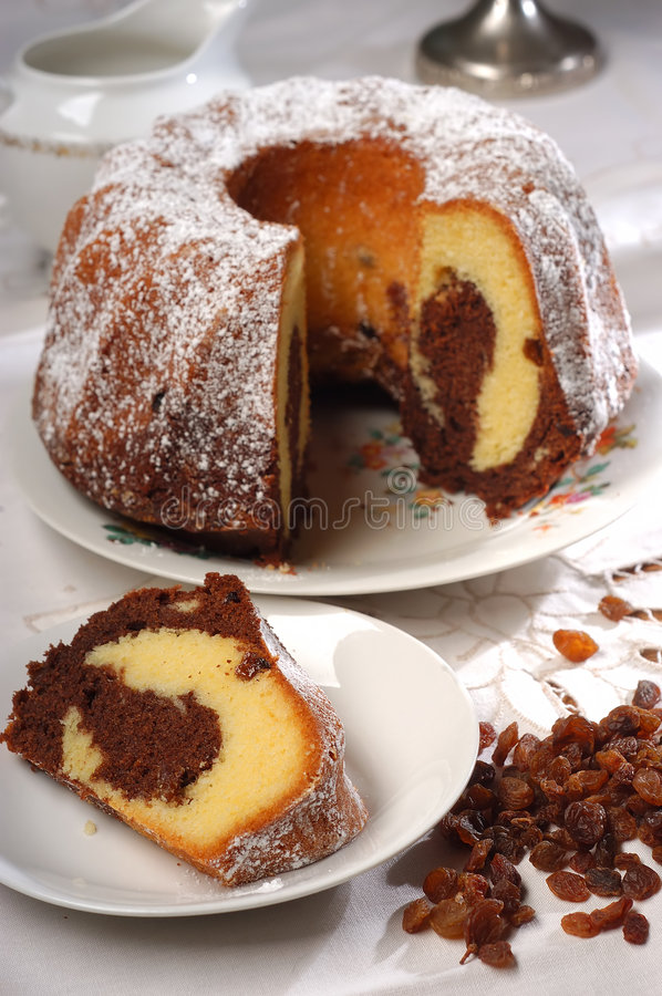 ljusbrun cake arkivfoto