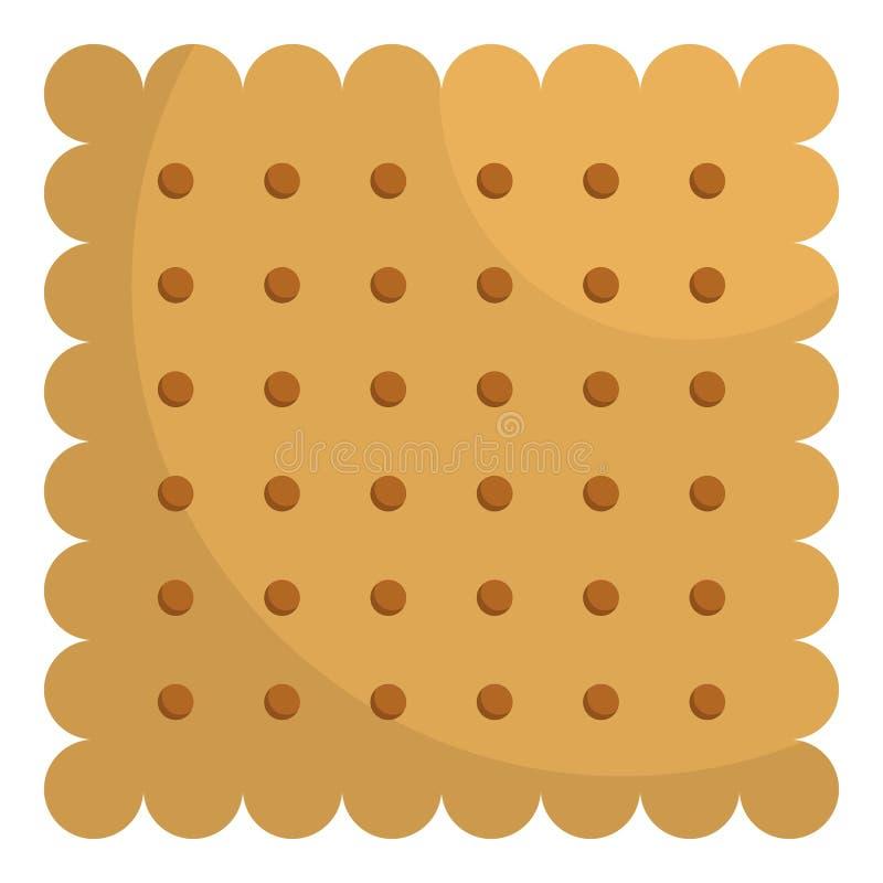 Ljusbrun symbol för mutter, lägenhetstil royaltyfri illustrationer