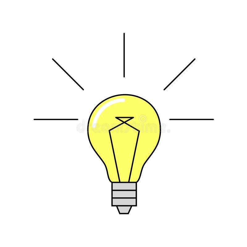 Ljuset är på idétecken Teknologi idérika idéer som är electr royaltyfri illustrationer