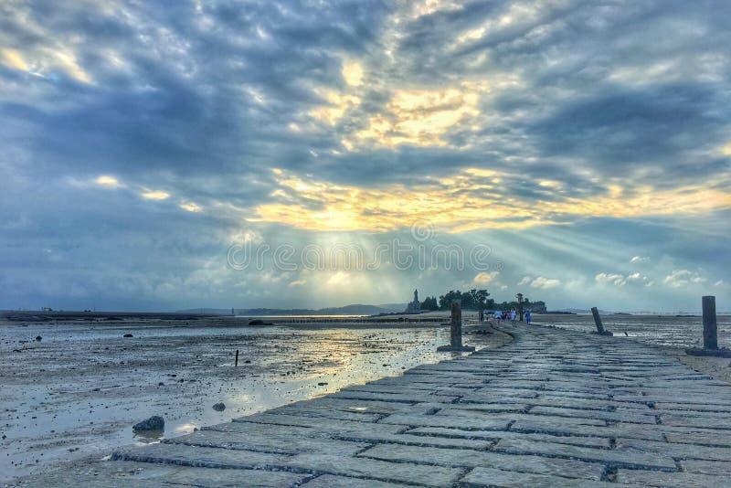 Ljuset efter regn i Kinmen royaltyfria bilder