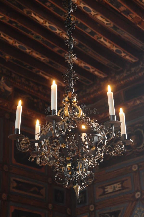 Ljuskrona av den Cormatin slotten royaltyfria bilder