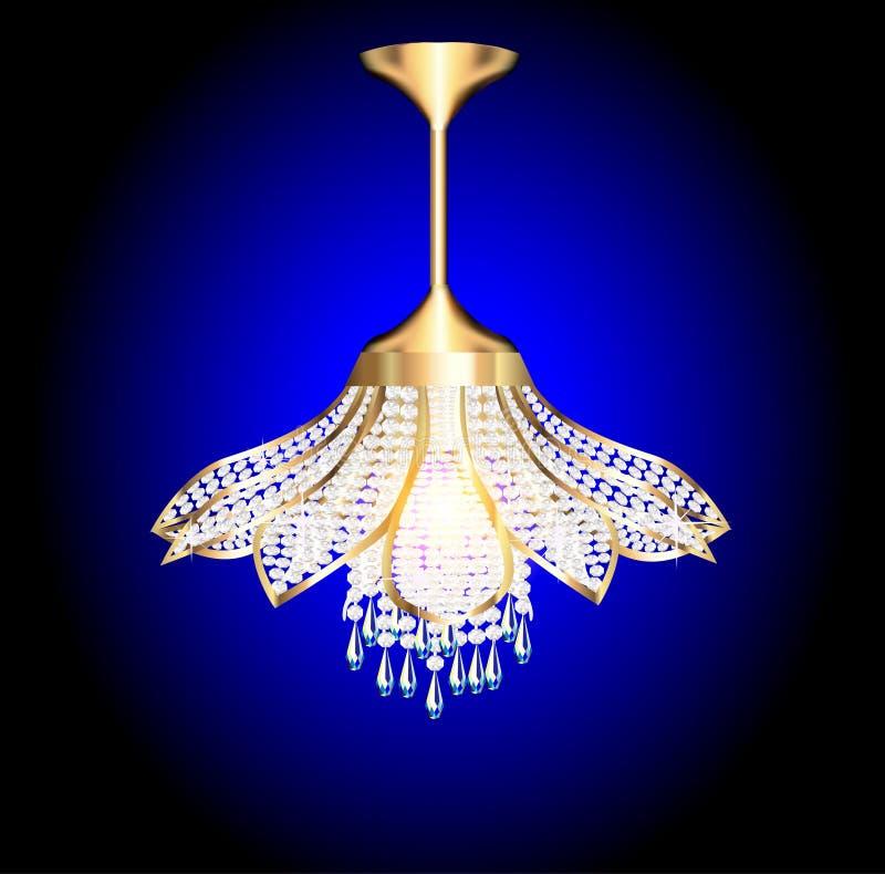 Ljuskrona i formen av en blomma stock illustrationer
