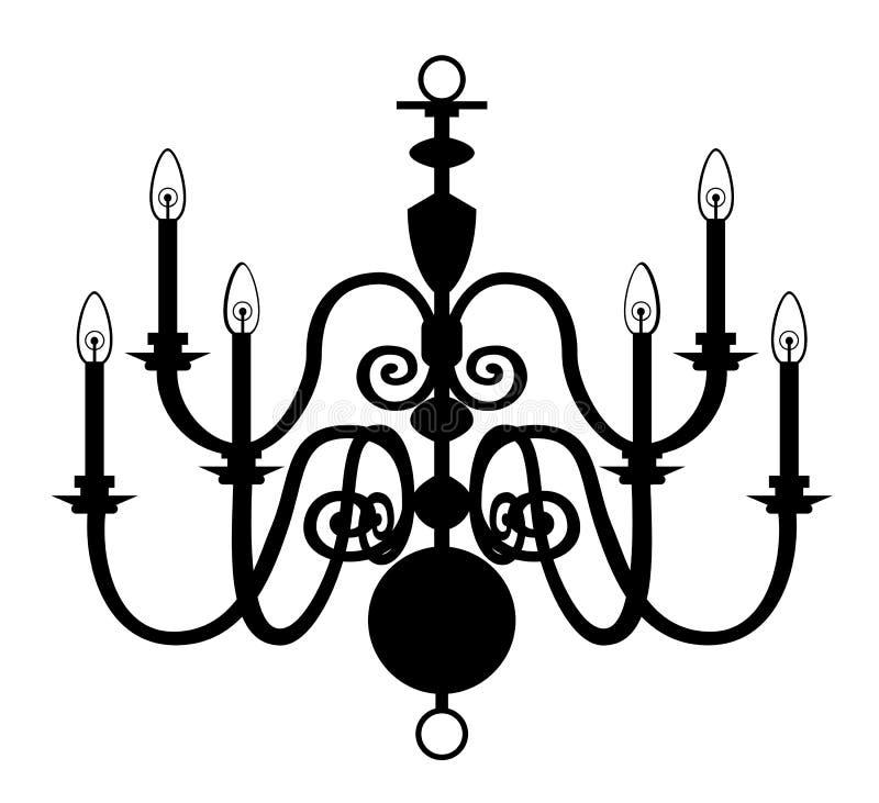 ljuskrona isolerad white stock illustrationer