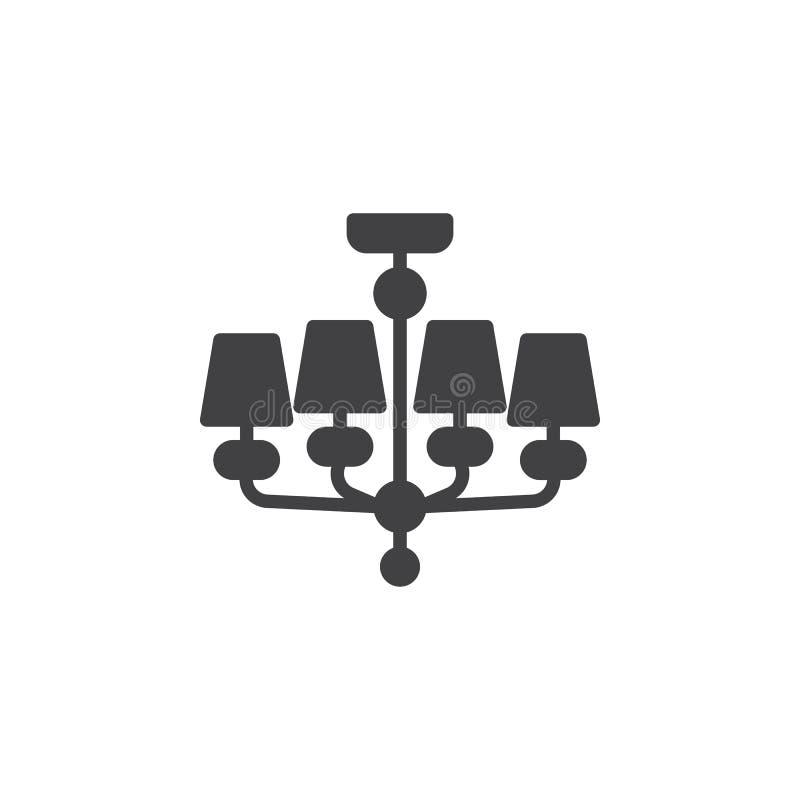 Ljuskrona m?blemangvektorsymbol vektor illustrationer