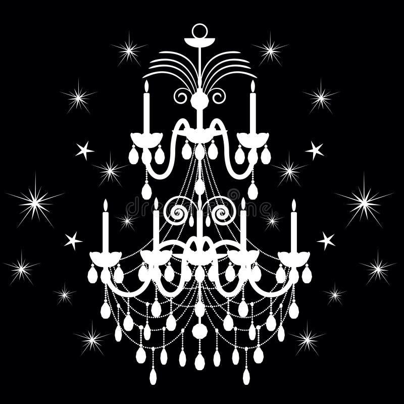 ljuskronakristall stock illustrationer