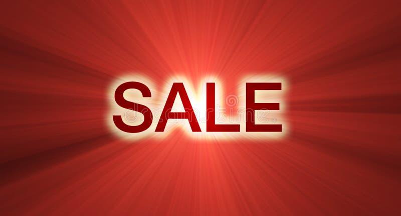 ljusröd försäljning för banersignalljus stock illustrationer