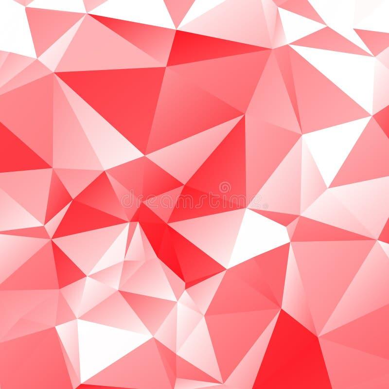 Ljusröd polygonal illustration att bestå av trianglar Triangula royaltyfri illustrationer