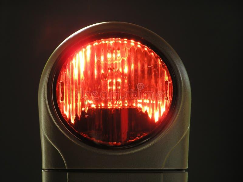 Download Ljusrött arkivfoto. Bild av stopp, fara, siren, exponeringsglas - 242756