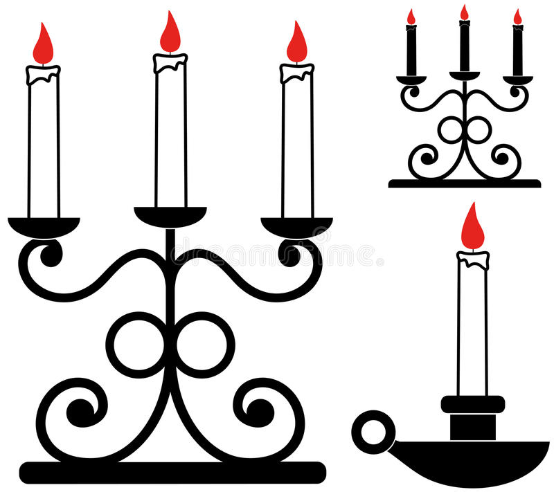 Ljusstake royaltyfri illustrationer