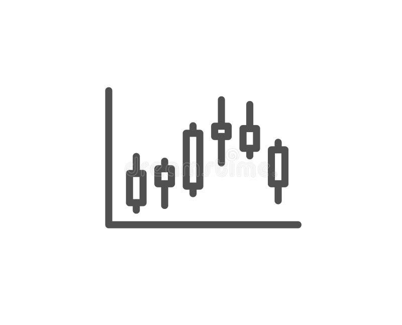 Ljusstakediagramlinje symbol Finansiell graf vektor illustrationer